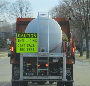 Anti-Icing Machine on the Road