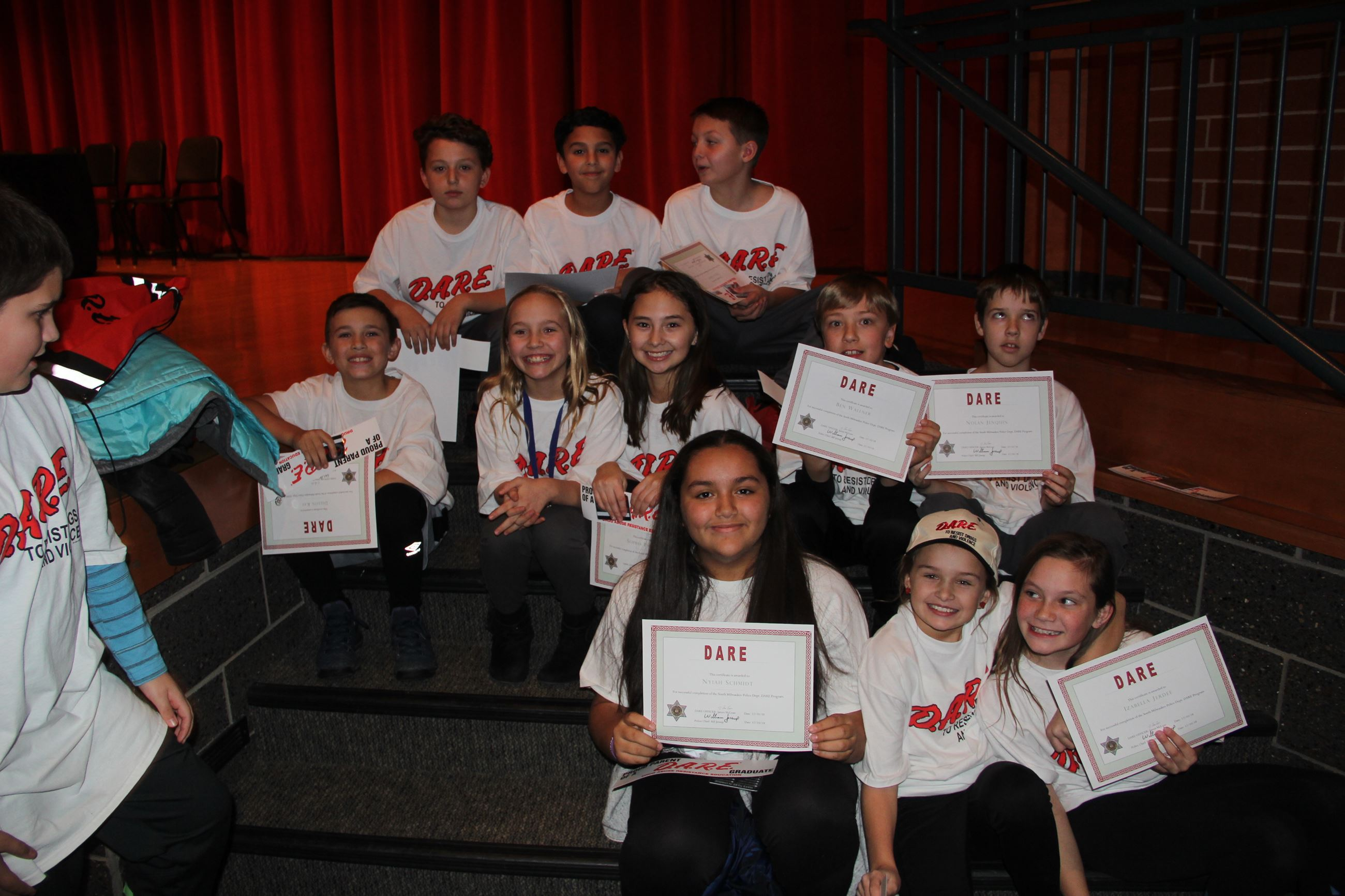 Kids at the DARE Program